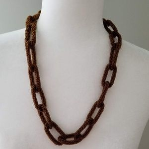 Jewelry - Brown Beaded and Linked Necklace